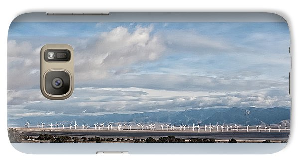 Galaxy Case featuring the photograph Power From The Wind In Western Skies by Michael Flood