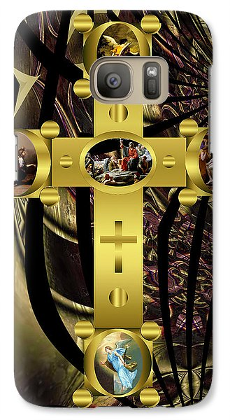 Galaxy Case featuring the photograph Power Of The Cross 2 by Robert Kernodle