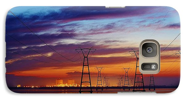Galaxy Case featuring the photograph Power Plant On The Rise by Lynda Dawson-Youngclaus