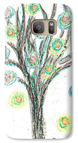 Galaxy Case featuring the drawing Power Tree by Jill Lenzmeier