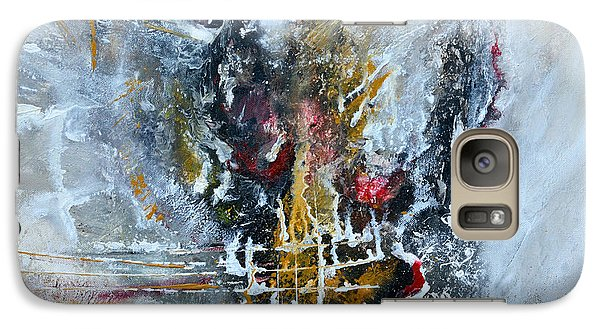Galaxy Case featuring the painting Powerful - Abstract Art by Ismeta Gruenwald