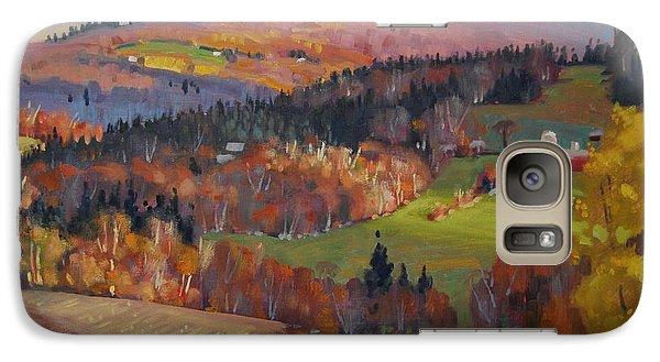 Galaxy Case featuring the painting Pownel Vermont by Len Stomski
