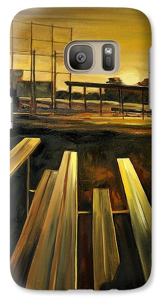 Galaxy Case featuring the painting Practice Fields by Lindsay Frost