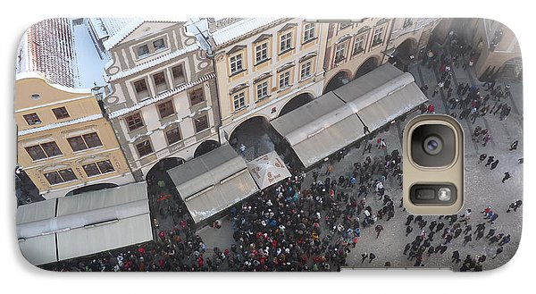 Galaxy Case featuring the photograph Prague Market by Deborah Smolinske