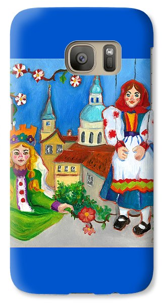 Galaxy Case featuring the painting Prague by Susan Thomas