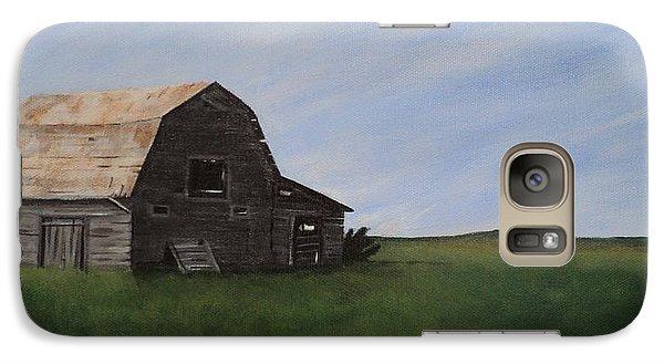 Galaxy Case featuring the painting Prairie Barn by Jesslyn Fraser