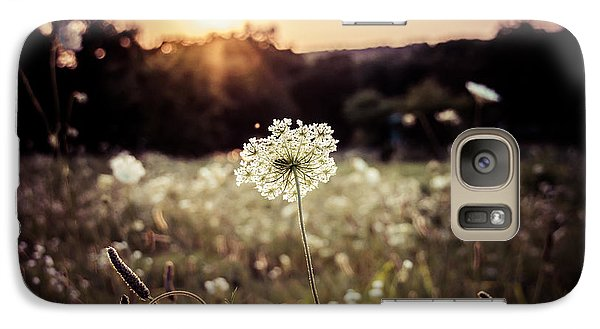 Galaxy Case featuring the photograph Prairie Lace Sunset by Julie Clements