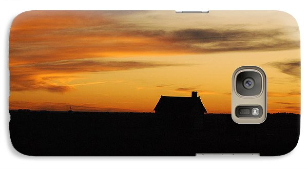 Galaxy Case featuring the photograph Prairie Sunset by Mary Carol Story