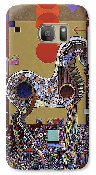 Galaxy Case featuring the painting Prancer II by Bob Coonts