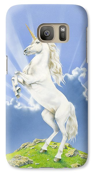 Prancing Unicorn Galaxy Case by Irvine Peacock