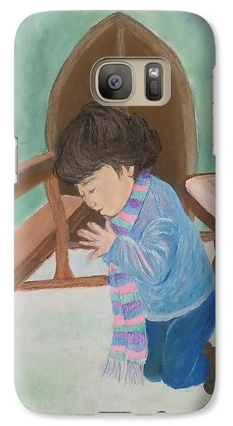 Galaxy Case featuring the mixed media Pray Without Ceasing by Christy Saunders Church