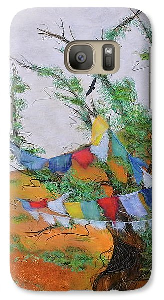 Galaxy Case featuring the painting Prayer Flags by Deborha Kerr