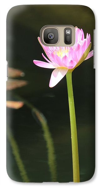 Galaxy Case featuring the photograph Precious Purple Water Lilly by Bill Woodstock