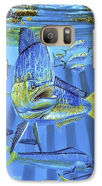 Salmon Galaxy S7 Case - Predator Off0067 by Carey Chen