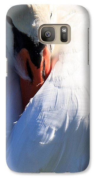 Galaxy Case featuring the photograph Preening Swan by Cathy Donohoue
