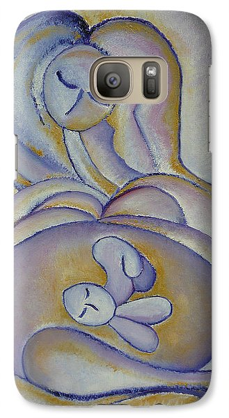 Galaxy Case featuring the painting Pregnancy Oil Painting In The Belly Original By Gioia Albano by Gioia Albano