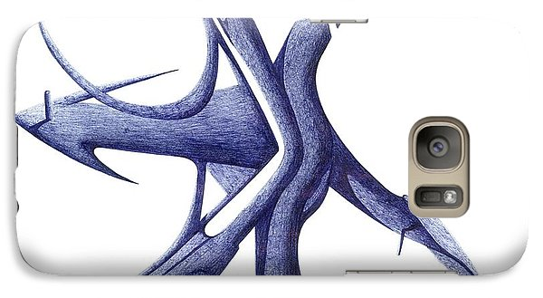 Galaxy Case featuring the drawing Prehistoric Sign by Giuseppe Epifani
