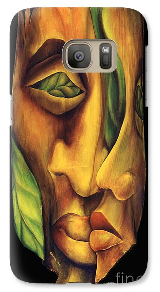 Galaxy Case featuring the painting Prelude To A Kiss by Anna Skaradzinska