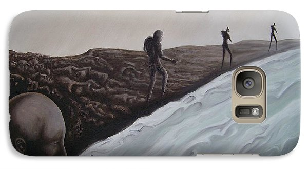 Galaxy Case featuring the painting Premonition by Michael  TMAD Finney