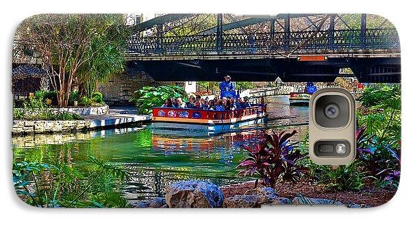 Galaxy Case featuring the photograph Presa Street Bridge Over Riverwalk by Ricardo J Ruiz de Porras