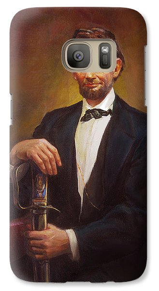 Galaxy Case featuring the painting President Abraham Lincoln by Svitozar Nenyuk