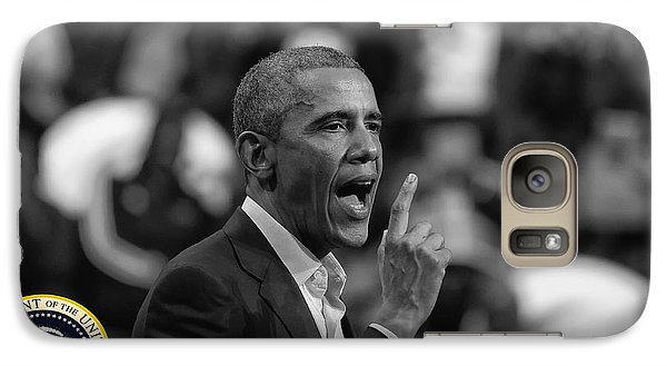 Galaxy Case featuring the photograph President Barack Obama by Jerome Lynch