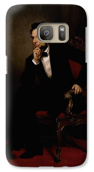 Abraham Lincoln Galaxy S7 Case - President Lincoln  by War Is Hell Store
