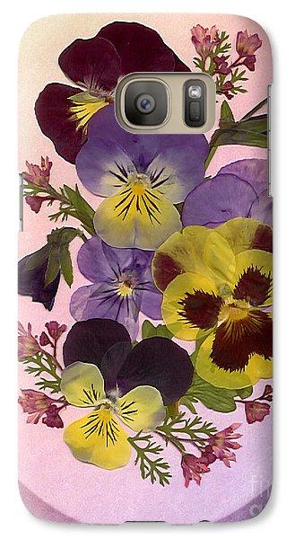 Pressed Pansies Galaxy S7 Case