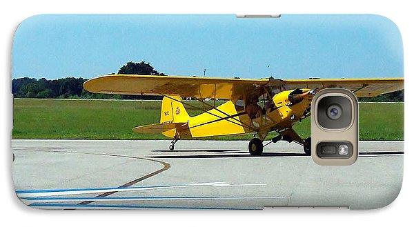 Galaxy Case featuring the photograph Preston Aviation Piper Cub  by Chris Mercer