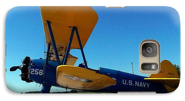 Galaxy Case featuring the photograph Preston Aviation Stearman 001 by Chris Mercer