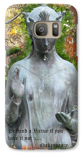 Galaxy Case featuring the photograph Pretend A Virtue by Patricia Januszkiewicz