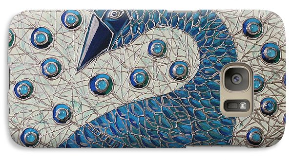 Galaxy Case featuring the painting Pretty As A Peacock  by Cynthia Snyder