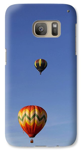 Galaxy Case featuring the photograph Pretty Balloons   All In A Row by Gene Walls