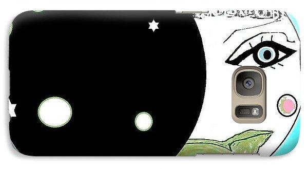 Galaxy Case featuring the digital art Pretty Cheeky by Ann Calvo