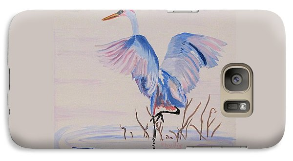 Galaxy Case featuring the painting Pretty Crane by Phyllis Kaltenbach