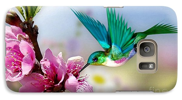 Galaxy Case featuring the mixed media Pretty Hummingbird by Morag Bates