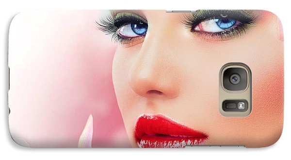 Galaxy Case featuring the digital art Pretty In Pink  by Karen Showell