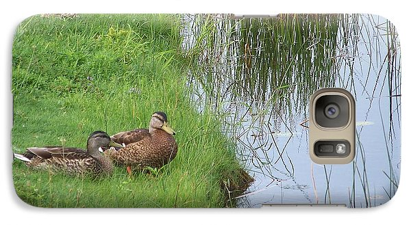 Galaxy Case featuring the photograph Mated Pair Of Ducks by Eunice Miller