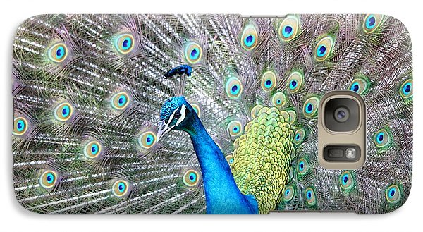 Galaxy Case featuring the photograph Pretty Peacock by Elizabeth Budd