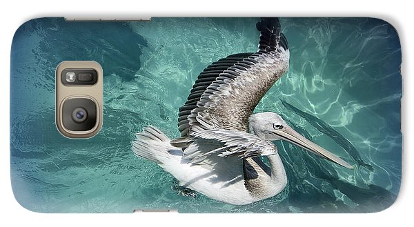 Galaxy Case featuring the photograph Pretty Pelican by Pennie  McCracken