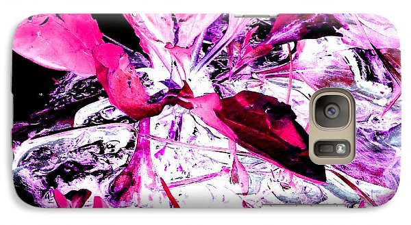 Galaxy Case featuring the photograph Pretty Pink Weeds 5 by Marianne Dow