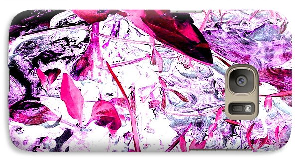 Galaxy Case featuring the photograph Pretty Pink Weeds 6 by Marianne Dow