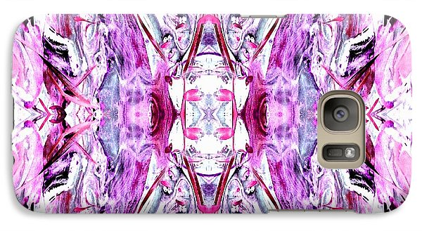 Galaxy Case featuring the photograph Pretty Pink Weeds Abstract  2 by Marianne Dow
