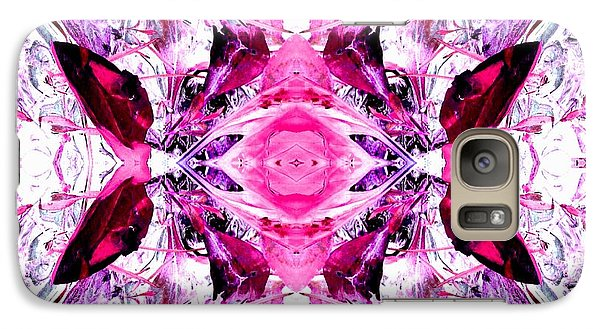 Galaxy Case featuring the photograph Pretty Pink Weeds Abstract  3 by Marianne Dow