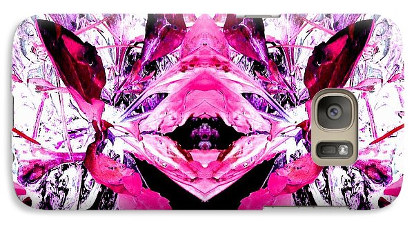 Galaxy Case featuring the photograph Pretty Pink Weeds Abstract  5 by Marianne Dow