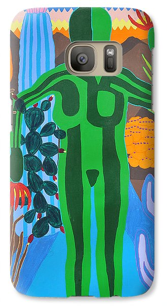Galaxy Case featuring the painting Pricked by Erika Chamberlin