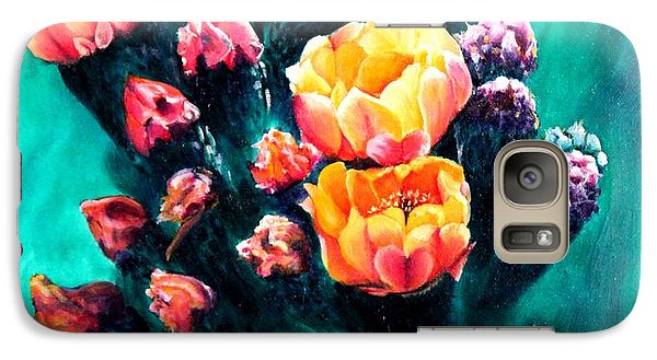 Galaxy Case featuring the painting Prickly Pear Cactus Painting by Judy Filarecki