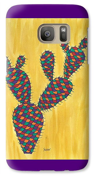 Galaxy Case featuring the painting Prickly Pear Cactus Paradise by Susie Weber