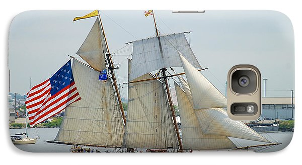 Pride Of Baltimore II Passing By Fort Mchenry Galaxy S7 Case