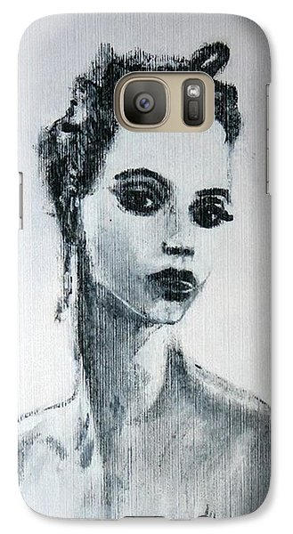 Galaxy Case featuring the painting Primadonna by Jarmo Korhonen aka Jarko